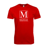 SoftStyle Red T Shirt-Lettered Macaulay Honors