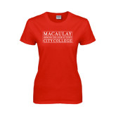 College Ladies Red T Shirt-City College