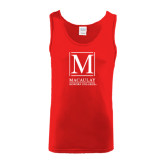 Red Tank Top-Lettered Macaulay Honors