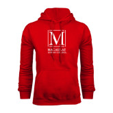 College Red Fleece Hoodie-Lettered Macaulay Honors