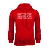 College Red Fleece Hoodie-City College