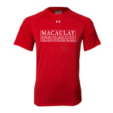 Under Armour Red Tech Tee-College of Staten Island
