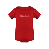 College Red Infant Onesie-Official Logo