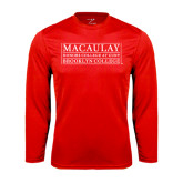 College Performance Red Longsleeve Shirt-Brooklyn College