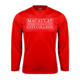 College Performance Red Longsleeve Shirt-City College