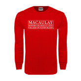 College Red Long Sleeve T Shirt-College of Staten Island
