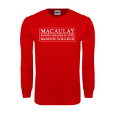 College Red Long Sleeve T Shirt-Baruch College