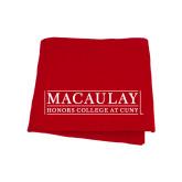 College Red Sweatshirt Blanket-Official Logo