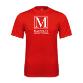 College Performance Red Tee-Lettered Macaulay Honors