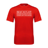 College Performance Red Tee-John Jay College