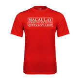 College Performance Red Tee-Queens College