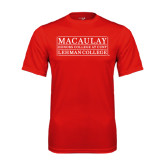 College Performance Red Tee-Lehman College