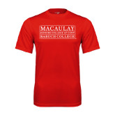 College Performance Red Tee-Baruch College