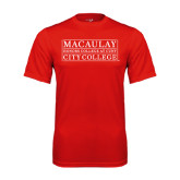 College Performance Red Tee-City College