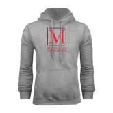 College Grey Fleece Hoodie-Lettered Macaulay Honors