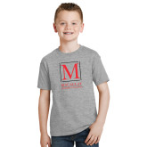 Youth Grey T-Shirt-Lettered Macaulay Honors