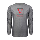 Grey Long Sleeve T Shirt-Lettered Macaulay Honors