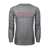 Grey Long Sleeve T Shirt-Queens College