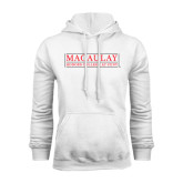 College White Fleece Hoodie-Official Logo