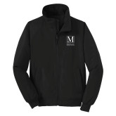 College Black Charger Jacket-Lettered Macaulay Honors