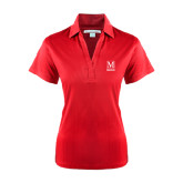 College Ladies Red Performance Fine Jacquard Polo-Lettered Macaulay Honors