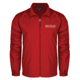 College Full Zip Red Wind Jacket-Official Logo