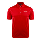 College Red Dry Mesh Polo-Official Logo
