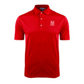 College Red Dry Mesh Polo-Lettered Macaulay Honors