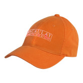 College Orange Twill Unstructured Low Profile Hat-Official Logo