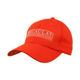 College Orange Heavyweight Twill Pro Style Hat-Official Logo