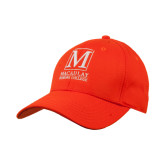 College Orange Heavyweight Twill Pro Style Hat-Lettered Macaulay Honors