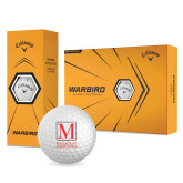 College Callaway Warbird Golf Balls 12/pkg-Stacked Macaulay Honors