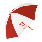 College 62 Inch Red/White Vented Umbrella-Lettered Macaulay Honors