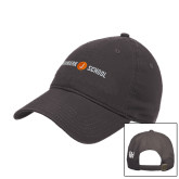 Charcoal Twill Unstructured Low Profile Hat-Cap Front