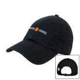 Black Twill Unstructured Low Profile Hat-Cap Front