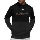 Adidas Black Team Issue Hoodie-SLU Logotype