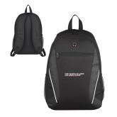Atlas Black Computer Backpack-SLU Logotype