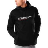 Under Armour Black Armour Fleece Hoodie-SLU Logotype