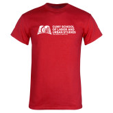 Red T Shirt-SLU Murphy Stacked