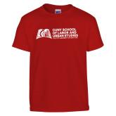 Youth Red T Shirt-SLU Murphy Stacked