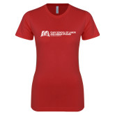 Next Level Ladies SoftStyle Junior Fitted Red Tee-SLU Murphy