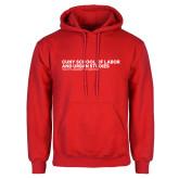 Red Fleece Hoodie-SLU Logotype