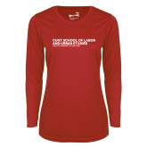 Ladies Syntrel Performance Red Longsleeve Shirt-SLU Logotype