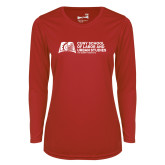Ladies Syntrel Performance Red Longsleeve Shirt-SLU Murphy Stacked