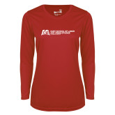 Ladies Syntrel Performance Red Longsleeve Shirt-SLU Murphy