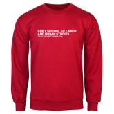 Red Fleece Crew-SLU Logotype