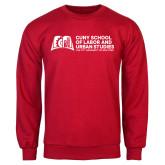 Red Fleece Crew-SLU Murphy Stacked