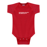 Red Infant Onesie-SLU Logotype