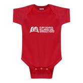 Red Infant Onesie-SLU Murphy Stacked