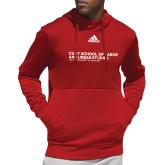 Adidas Red Team Issue Hoodie-SLU Logotype